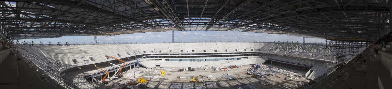 panoramique du chantier du nouveau stade de Bordeaux