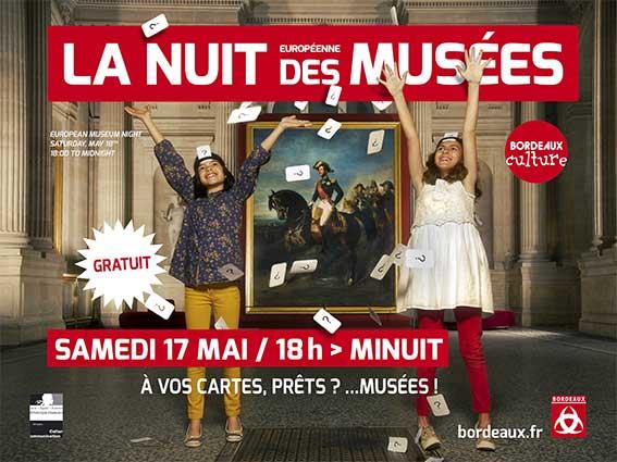 affiche pour la Nuit Européenne des Musées 2014 à Bordeaux